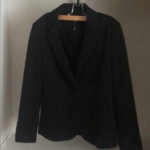 GAP factory black one button blazer size 4